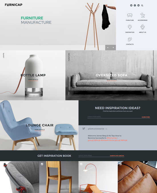 furnicap furniture website template