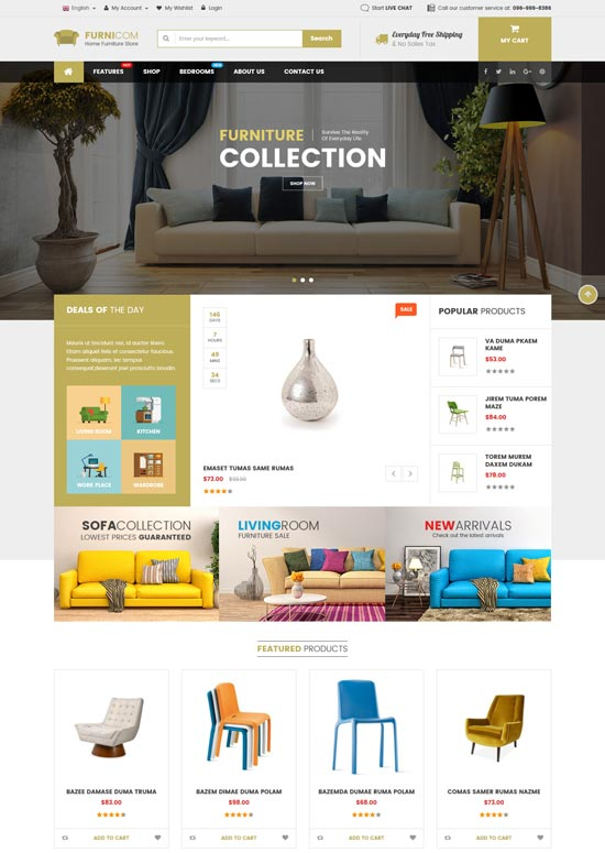 furnicom furniture theme magento
