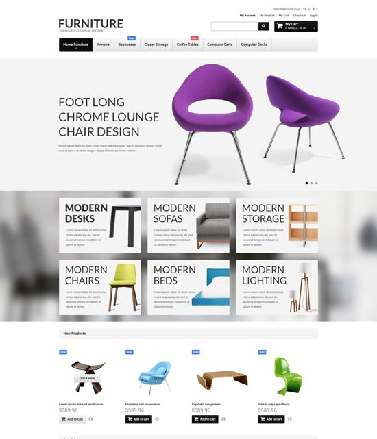furniture responsive magento theme 52645