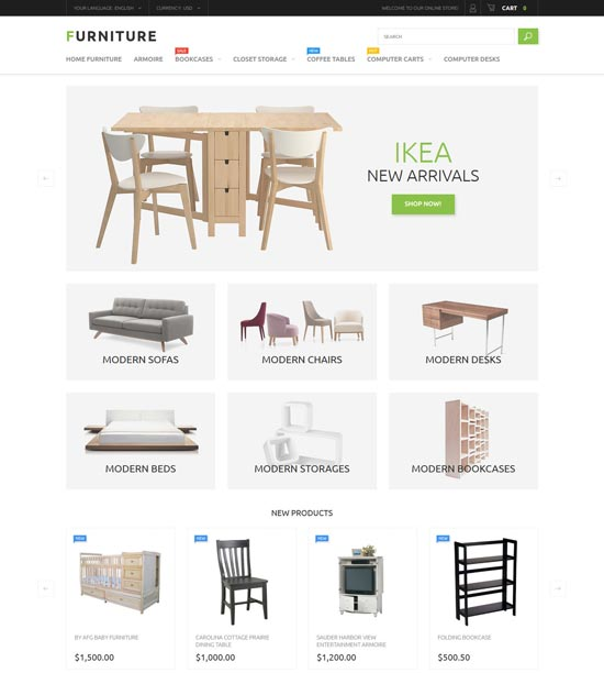 furniture store magento theme 53791