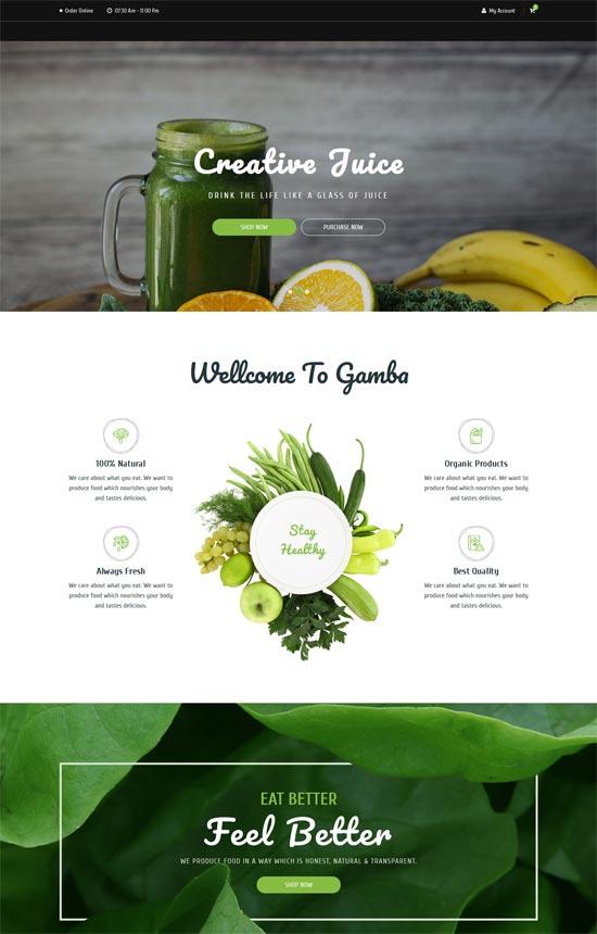 gamba organic html template
