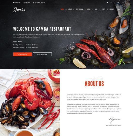 gamba-restaurant-shop-html-template