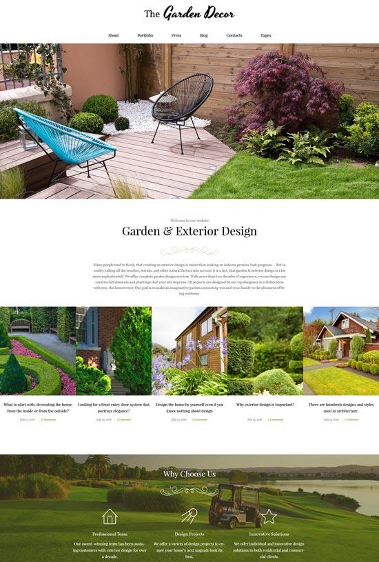 garden decor responsive wordpress theme
