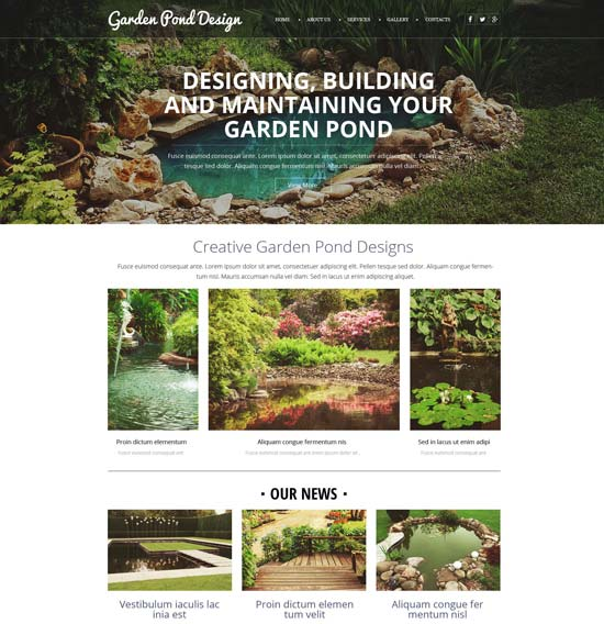 garden design website template 52638