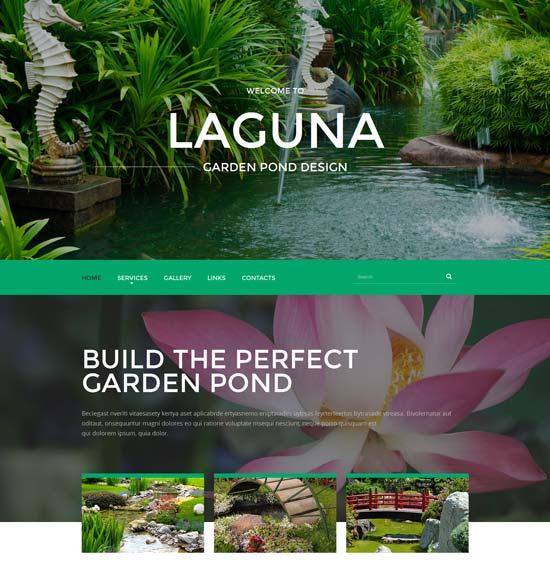 garden-pond-design-website-template