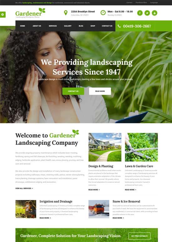 gardener gardening landscaping html template