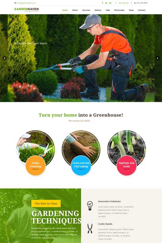 gardeninghaven lawn garden landscaping wordpress theme