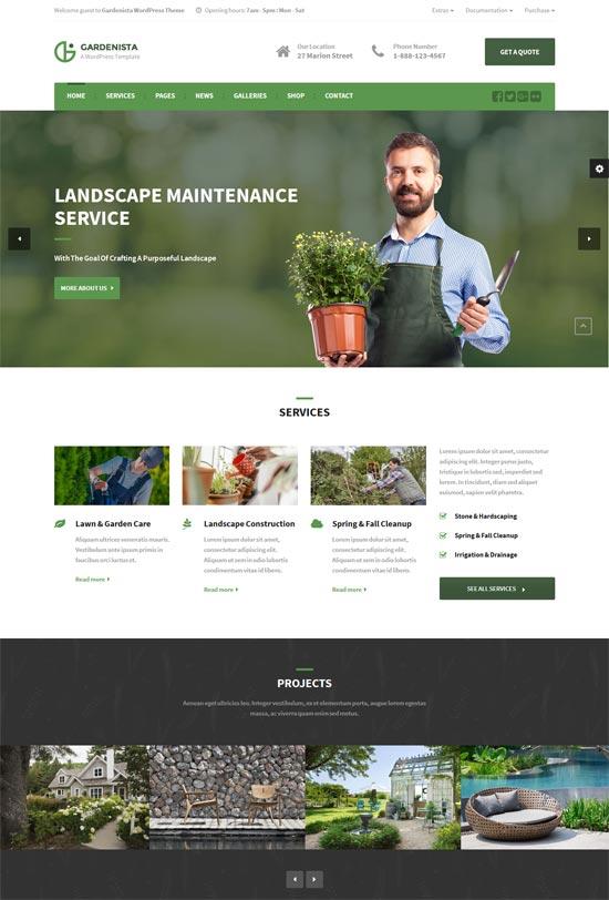 gardenista gardening business wordpress theme