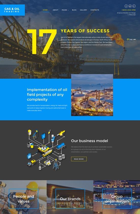gas oil trading joomla template
