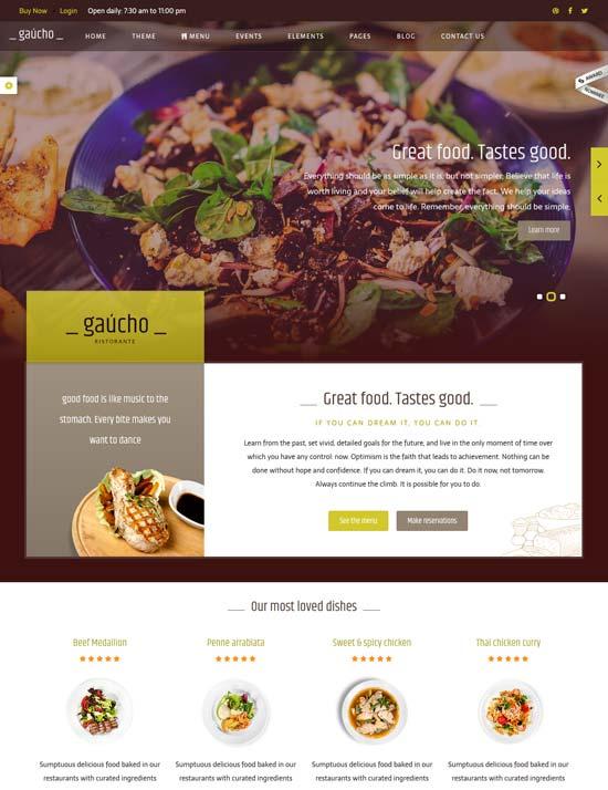 gaucho food restaurant html template