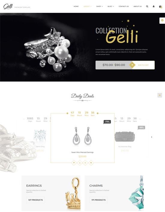 gelli jewelry perfume woocommerce theme