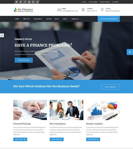 go finance finance corporate services template