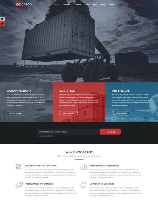 gocargo freight transportation WordPress theme