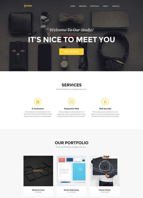 golden-one-page-psd-template