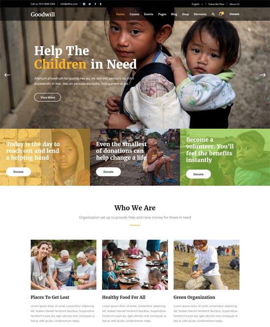 goodwill charity wordpress theme