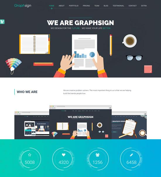 graphsign-flat-design