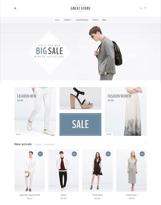 great store fashion ecommerce prestashop theme