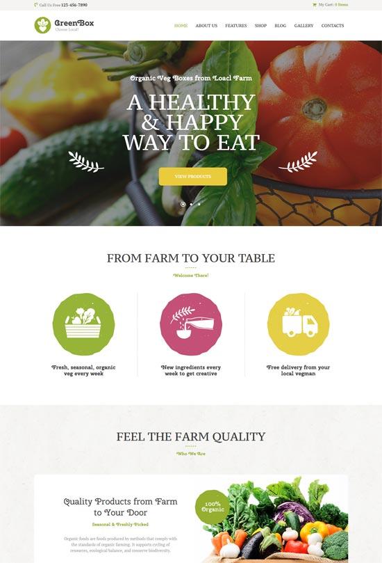 green box eco farm organic wordpress theme