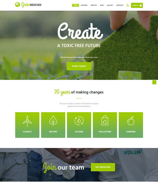 green environment protection theme