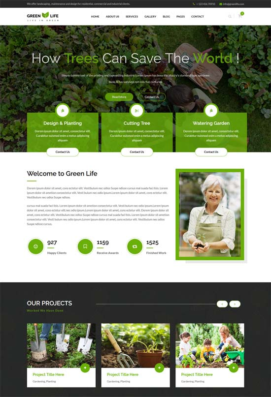 greenlife gardening landscaping html5 template