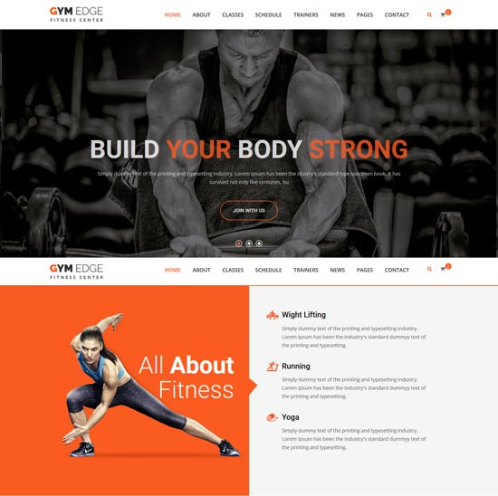 gym edge fitness html5 template