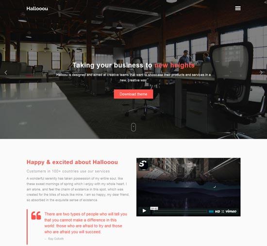 hallooou free html5 responsive template