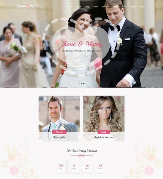 HappyWedding - Beautiful Wedding Template