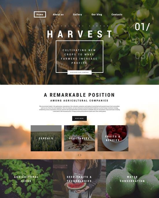harvest farming WordPress theme