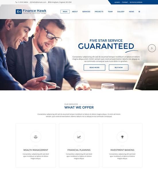 hawk finance accounting html template