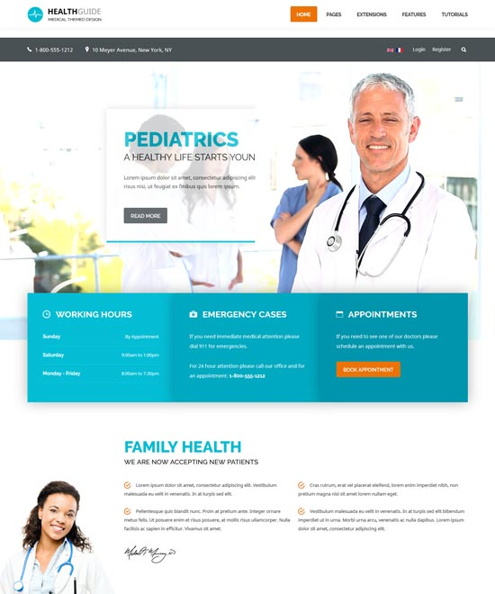 health guide medical doctor joomla template