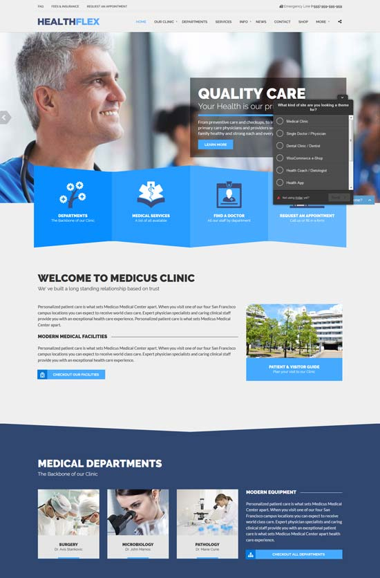 healthflex health WordPress theme