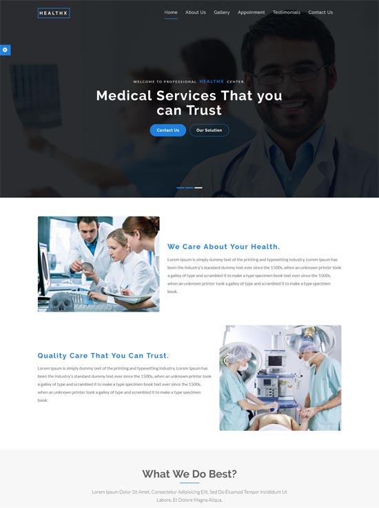 healthx health medical html template