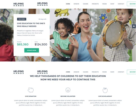 helping hands charity html template