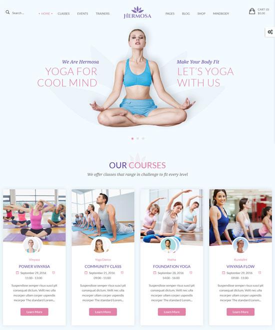 hermosa yoga wordpress theme