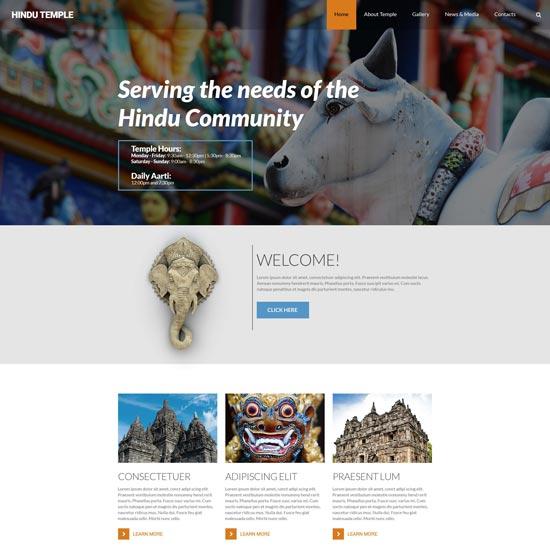 Hinduism Responsive Website Template