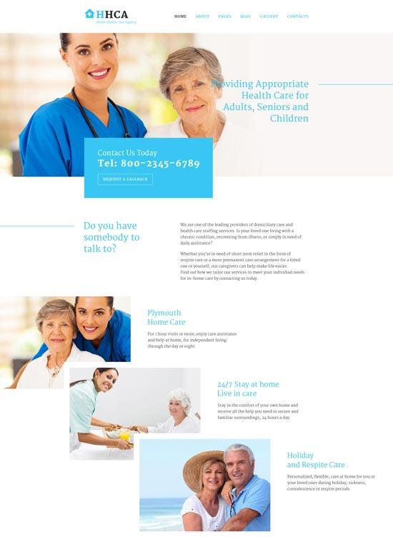 home health care joomla template