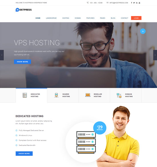 hostingpress web hosting html template