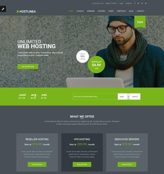 hostlinea web hosting responsive html5 template