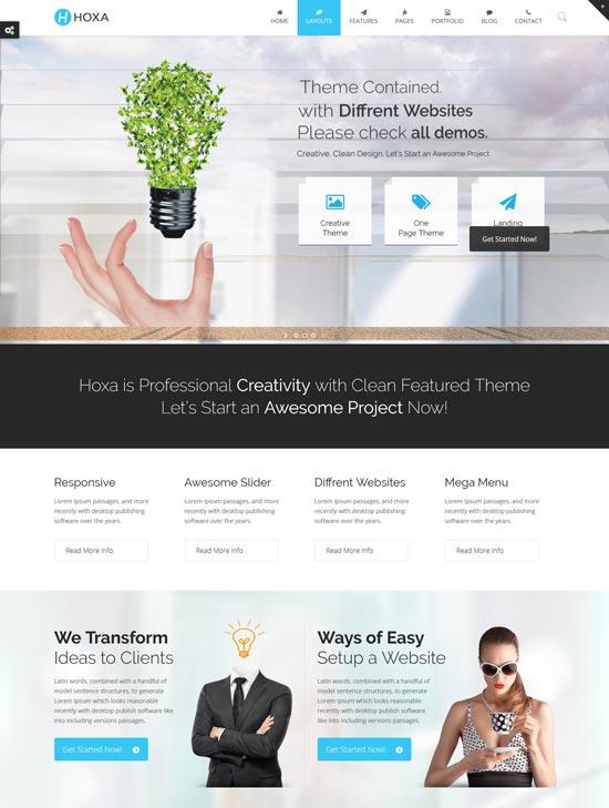 hoxa web design company theme
