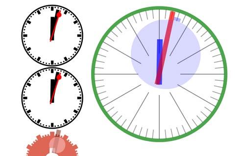 Analog Clock HTML5 Animation