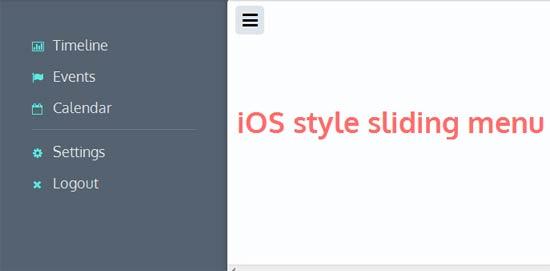 iOS-style-sliding-menu