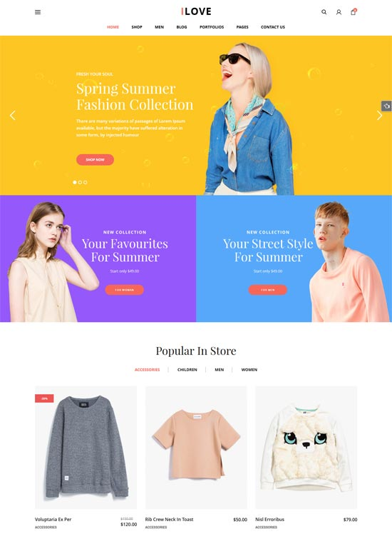 ilove woocommerce wordpress theme