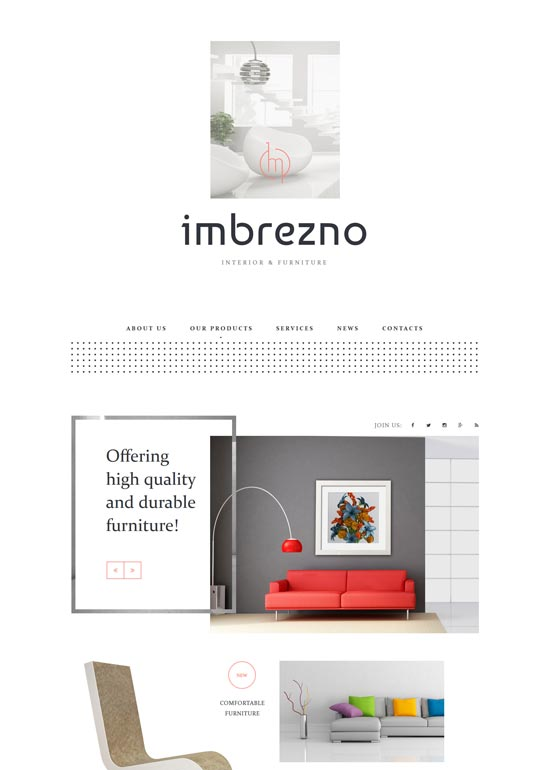 imbrezno interior furniture website template