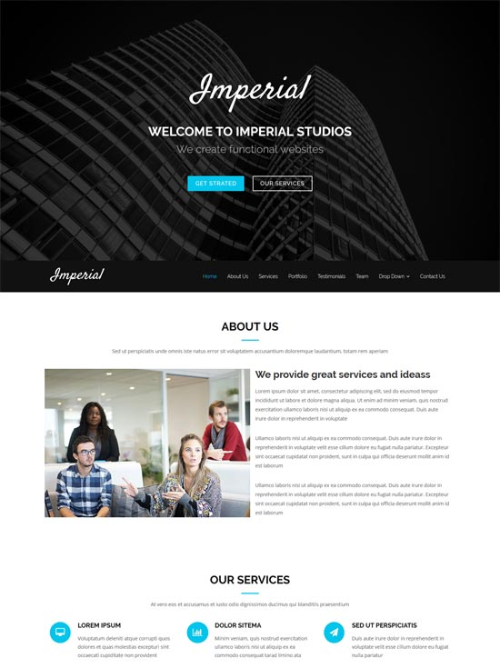 imperial studio bootstrap theme