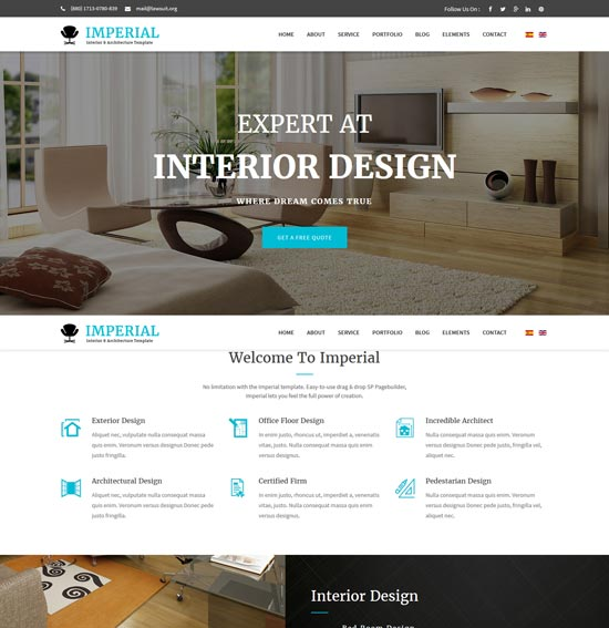 imperial interior design joomla template