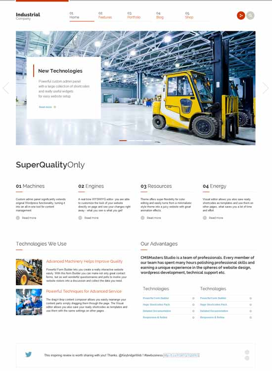 industrial-Responsive-WP-Theme