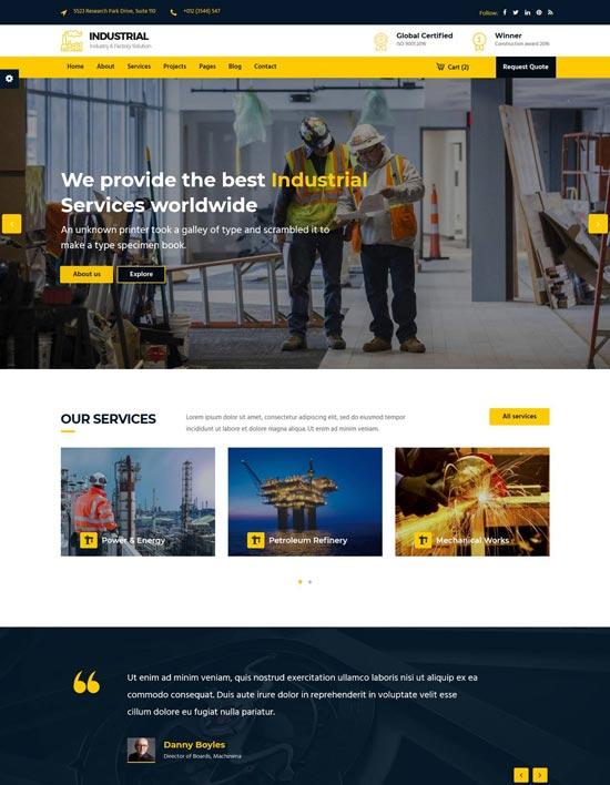 industrial industry engineering template