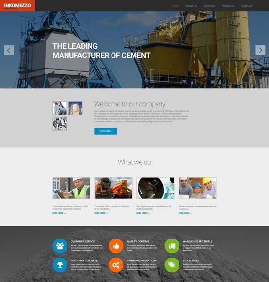 industrial responsive website template 55978