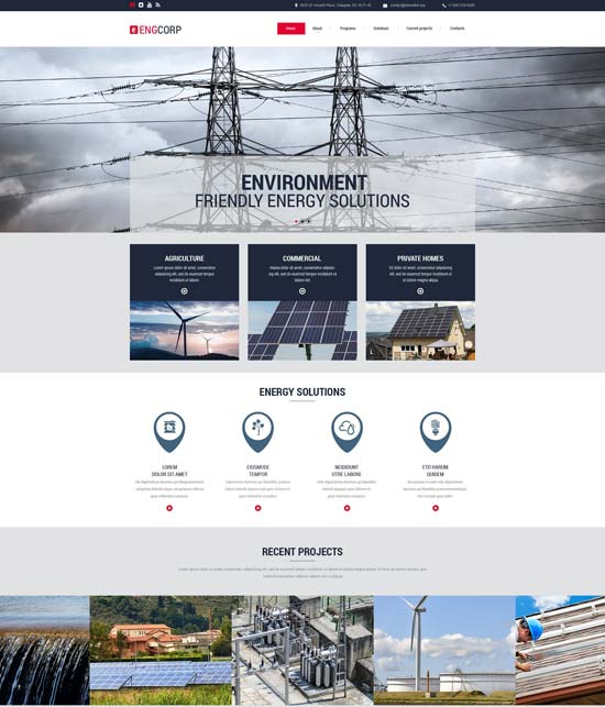 industrial website template 55422
