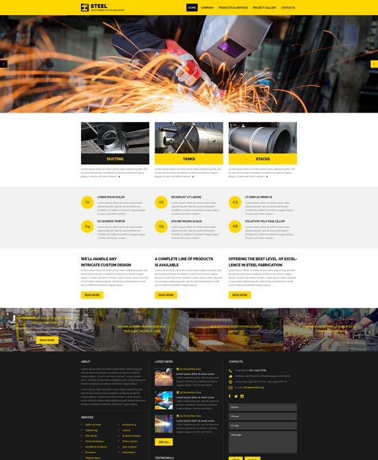 industrial website template 57623